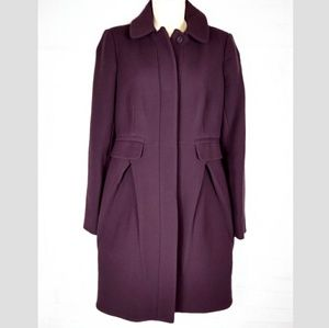 J. Crew Purple Coat Italian Wool Lady Day Winter 2
